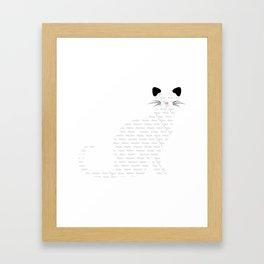Multilingual cat  Framed Art Print
