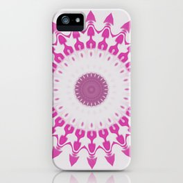 Amethyst & Hot Pink Gemstone Liquid White Smoke Kaleidoscope 5 Digital Painting iPhone Case