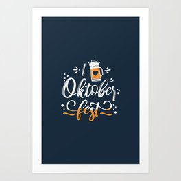 German Festival Season Typography Art Print