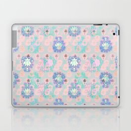 Lotus flower - powder pink woodblock print style pattern Laptop & iPad Skin