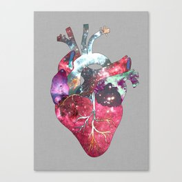 Superstar Heart (on grey) Canvas Print
