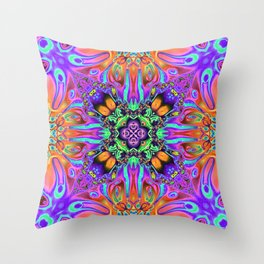 Vibrant Mirror of Abstract Shapes Throw Pillow