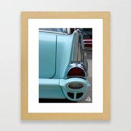 Straight Fin Framed Art Print