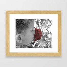 Smelling the Roses Framed Art Print