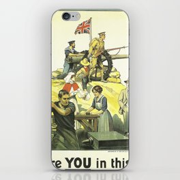 Vintage poster - Are YOU in this? iPhone Skin