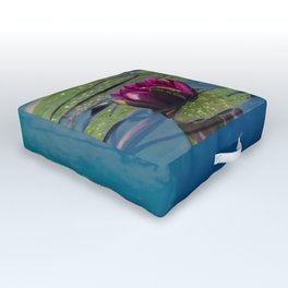 Two water lilies Outdoor Floor Cushion
