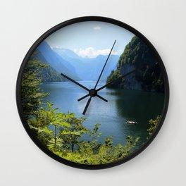 Germany, Malerblick, Koenigssee Lake II Wall Clock