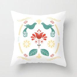 Folk Art Series by Gabba Delgado Throw Pillow