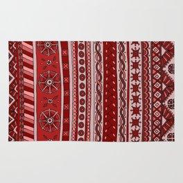 Yzor pattern 005 red Rug