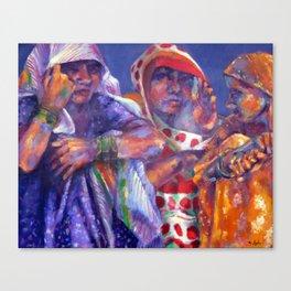 Three Cloth Sellers Canvas Print