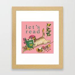 Let's Read Pillow Butterflies Jessie Framed Art Print