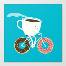 Coffee and Donuts Canvas Print