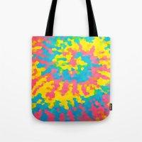 tie dye Tote Bags featuring Tie Dye by Jillian Stanton