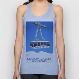 Squaw Valley Ski Resort ,LakeTahoe , California Unisex Tank Top