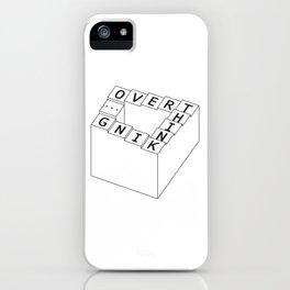 overthinking - black&white iPhone Case