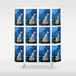 She lived almost alone in a sea of storms. Shower Curtain