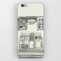 kitchen iPhone & iPod Skins featuring Kitchen by piankaB