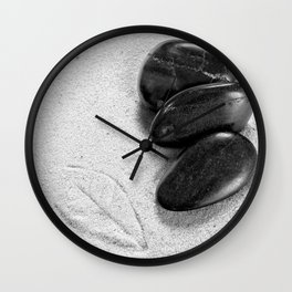 massage stones and leaf mark Wall Clock