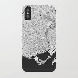 Toronto Map Gray iPhone Case