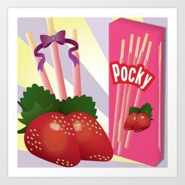 Ichigo Pocky Art Print