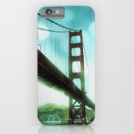 Green Bokeh Golden Gate Bridge in San Francisco iPhone Case