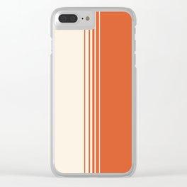 Marmalade & Crème Vertical Gradient Clear iPhone Case