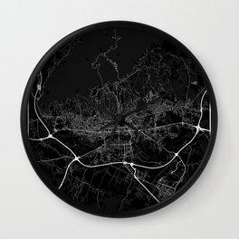 Minimal City Maps - Map of Zagreb Wall Clock