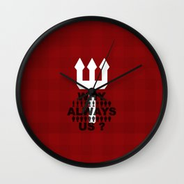 manchester united 1 Wall Clock