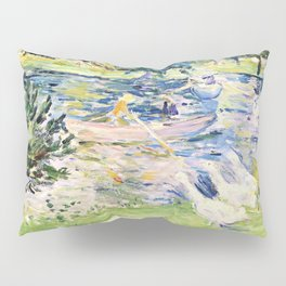 Girl in a Boat with Geese - Digital Remastered Edition Pillow Sham