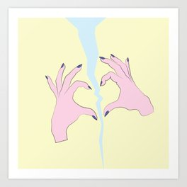 Broken Heart Club Art Print