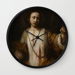 Rembrandt - Lucretia (1666) Wall Clock