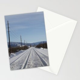 Carol M. Highsmith - Snow Covered Railroad Tracks Stationery Cards