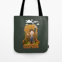 adventure is out there Tote Bags featuring Adventure by BlancaJP - Jonna Piltti