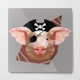 The Pirate Pig Metal Print