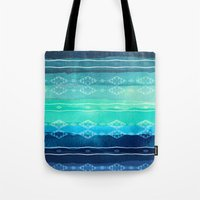 aelwen Tote Bags featuring ocean by spinL