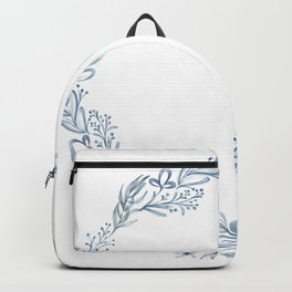 Watercolor leaves illustration Backpack