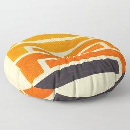 Orange & Black Geometric Pattern Floor Pillow