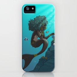 Mermaid Black iPhone Case