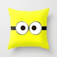 minion Throw Pillows featuring minion by cbrocoff