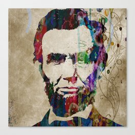 Abraham Lincoln Watercolor Modern Abstract GIANT PRINT ART Canvas Print