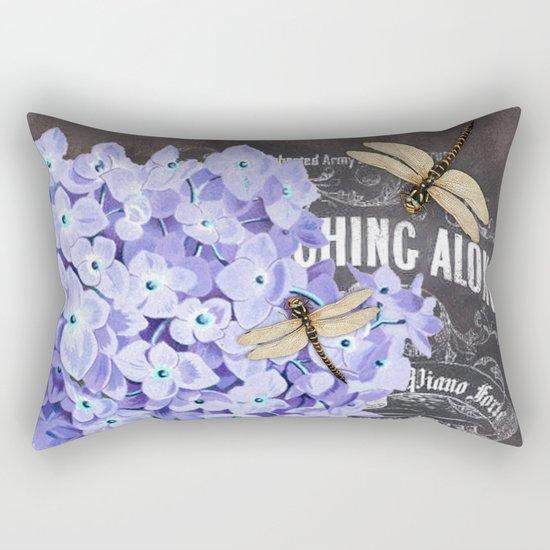 Vintage Flowers #4 Rectangular Pillow