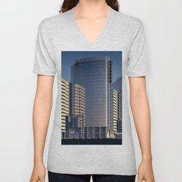 skyscraper skyscrapers building Unisex V-Neck