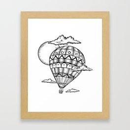 Vintage hot air balloon adventure t-shirt Framed Art Print