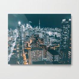 Toronto In The Dark Metal Print