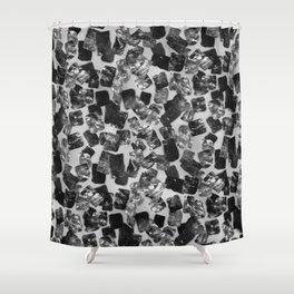 tear down (monochrome series) Shower Curtain