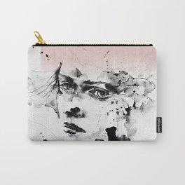 Woman, Girl art, Watercolor, Scandinavian, Minimal, Modern, Wall art Carry-All Pouch