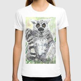 Ring-Tailed Lemur - cute animal, nature, lemur, eyeroll, zero given, not impressed, animals T-shirt
