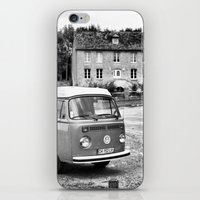 1975 iPhone & iPod Skins featuring 1975 VW Camper by BeCombi
