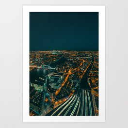 East London from above Art Print