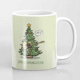 Spruce Springsteen - Funny Christmas Music Cartoon Pun Kaffeebecher